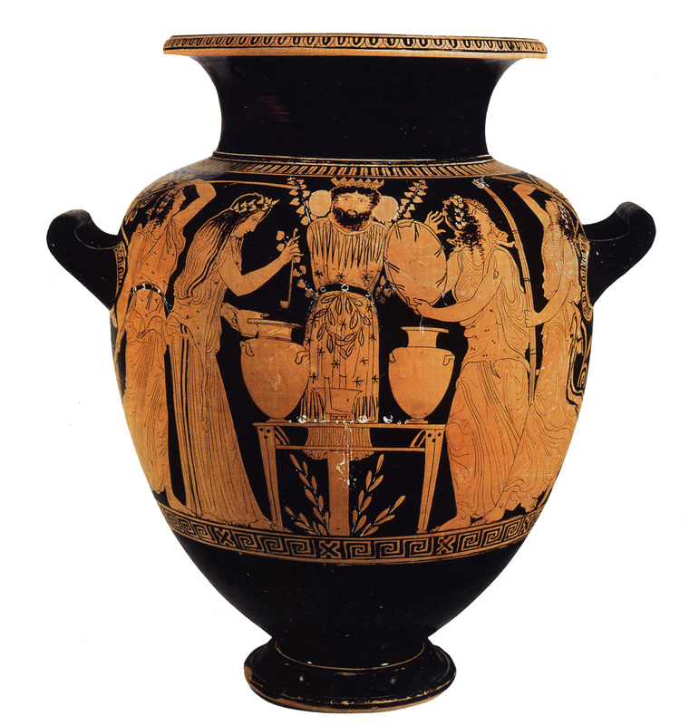 ancient greece and greek red figure vase